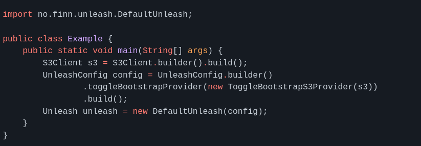 Configure S3 in Unleash